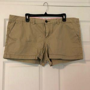 Merona khaki chino shorts, size 18